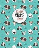 Blank Sticker Book: Dog Blank Sticker Collection Books,Bulldog puppy Blank Sticker Album For Girl, Cute Doggy Sticker Books For Boys Kids 4-8 ... Book)collar,balls, bones Blank Sticker Book