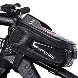 Fahrrad Rahmentasche, Wasserdicht Rahmentasche Fahrrad Rahmentasche mit TPU-Touchscreen, Großer...