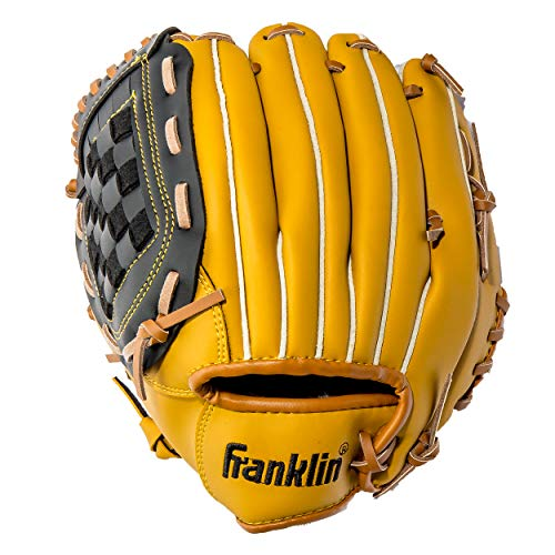 Franklin Sports Field Master Series Baseball Handschuhe, Unisex, schwarz