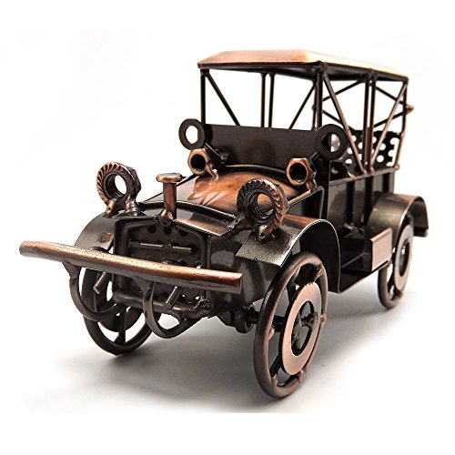 Tipmant Metal Antique Vintage Car Model Tin Home Décor Decoration Ornaments Handmade Handcrafted Collections Collectible Vehicle Toys