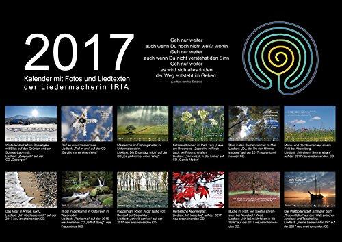 IRIA Fotokalender 2017 mit meditativen Texten, Größe B3 (485 x 335 mm)