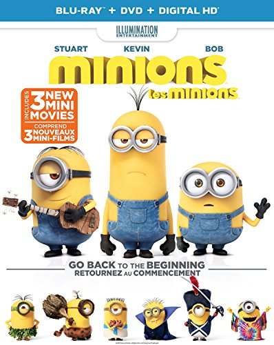 Minions (Includes 3-Mini Movies) (Blu-ray + DVD)