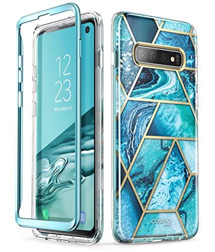 i-Blason Hülle für Samsung Galaxy S10 Handyhülle Glitzer Case Bumper Robust Schutzhülle Glänzend Cover [Cosmo] OHNE Displayschutz 2019 Ausgabe (Blau)