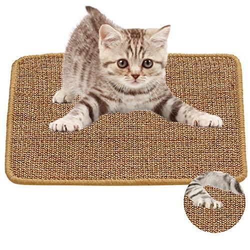 Xnuoyo Estera para Rascar el Gato Alfombrilla para Rascar para Gatos Almohadilla de Sisal Natural Protege Alfombras y Sofás Adecuado para Gatos Pequeños, Medianos y Grandes. (30x40cm)