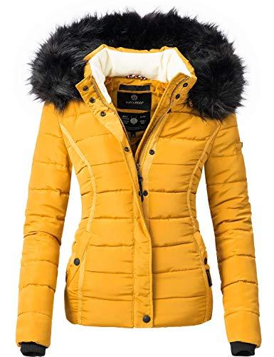 Navahoo Damen Winter Jacke Steppjacke Miamor Gelb Gr. L