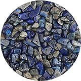 LUTER Cuentas de Piedra de Viruta Natural de Aproximadamente 500 Piezas Cuentas de Piedras Preciosas Irregulares Agujero Perforado para Joyería de Bricolaje Collar Pulsera Pendiente (Lapislázuli)