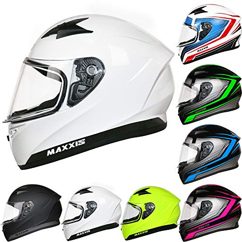 Casco de moto integral blanco
