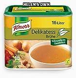 Knorr Caldo Gourmet Vegano - 1 x 329 Gram de Caldo Vegetal Vegano - Caldo Gourmet para Mejorar Cualquier Comida - Knorr Delikatess Brühe Dosis
