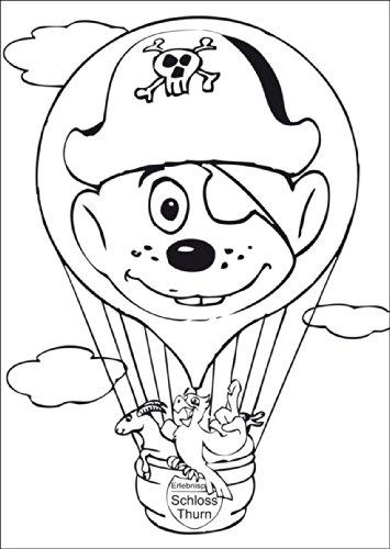Oven knutselkaart voor kinderen met dieren in heteluchtballon • ook voor direct verzenden met hun persoonlijke tekst als inlegger. • Mooie wenskaart met envelop voor vrienden en familie
