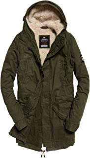 Superdry Men's New Military Parka Jacket, Green