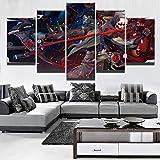 Juego de Lienzo póster Marco 5 Paneles Genji y Hanzo imágenes para Sala de Pintura
