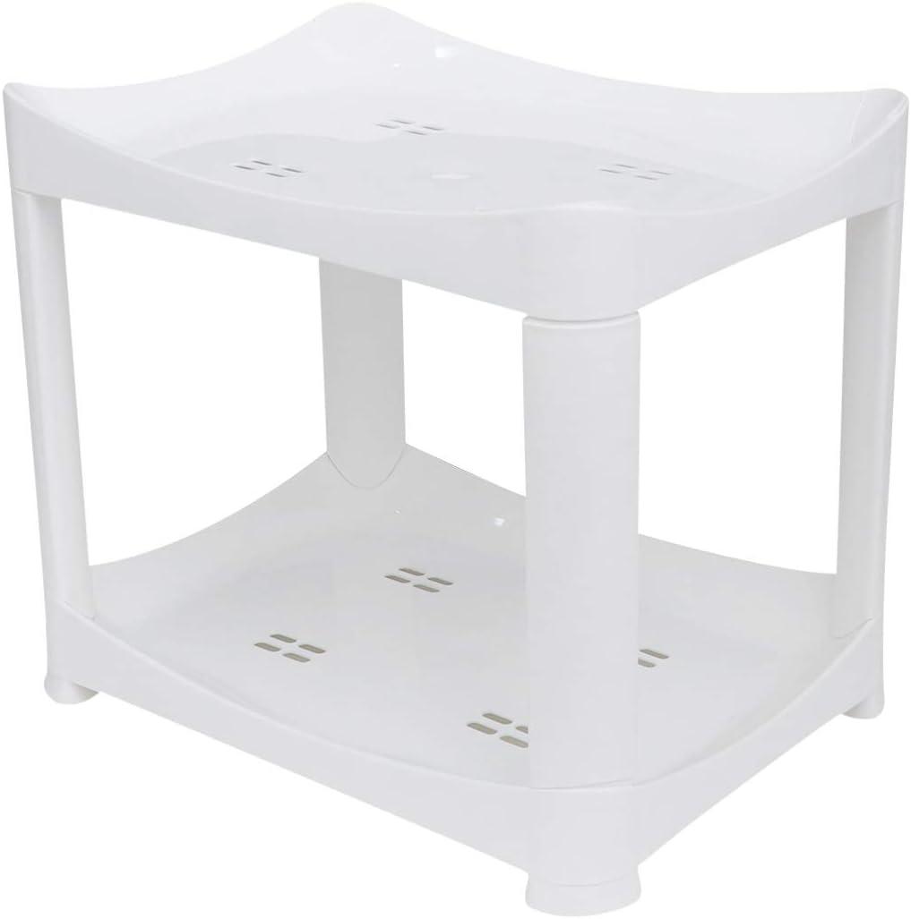 GARNECK Plastic Max 47% OFF Drain Shelf Stand 2 Tier Storage Free Rack Very popular!