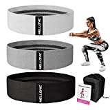 Resistance Bands Set of 3 for Legs and Butt Workout Fabric Booty Elastic Band Gym Exercise Equipment...