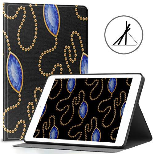 Custodia iPad per ragazze 9.7 Moda Bella collana Gioielli misura 2018/2017 iPad 5a / 6a generazione Custodie per iPad da 9,7 pollici Adatto anche per iPad Air 2 / iPad Air Auto Wake/sleep