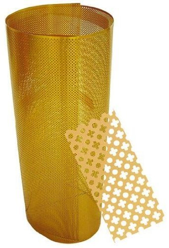 Hoja con el radiador agujeros cubre color dorado metros 2X1 Oro
