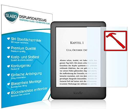 Slabo 2 x Premium Panzerglasfolie für Amazon Kindle (10. Generation – 2019) Panzerfolie Schutzfolie Echtglas Folie Tempered Glass KLAR 9H Hartglas