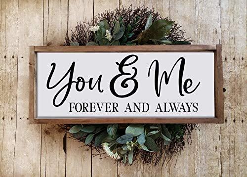 St234tyet Panneau de couple « You and Me » Inscription « You and Me Forever » pour couple « Forever and Always » Cadeau de mariage pour couple amoureux