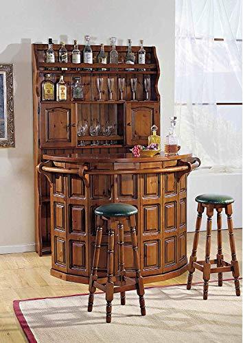 Dafnedesign. Com – Meuble bar – Art. 427 M – Barre L.148 P.63 H.101 – Art. 428 M – Bouteille 2 portes L.120 P.22 H.196 – Art. 429 M – N.2 tabourets diamètre 30 75 Fabriqué en Italie (LXI).