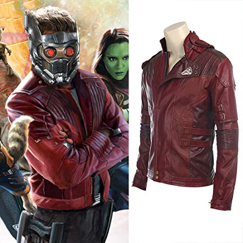 Rubyonly Guardiani della Galassia 2 Suit Costume Cosplay Stelle Lord Completa Peter Quill Giacca Cosplay Halloween su Ordine,Jacket,XL