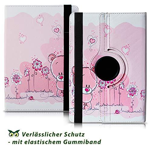 NAUC Tablet Hülle kompatibel für Lenovo Tab 2 A10-70 Tasche Schutztasche Cover Schutz Case 360° Drehbar Etui hochwertiges Kunst-Leder, Farben:Motiv 1