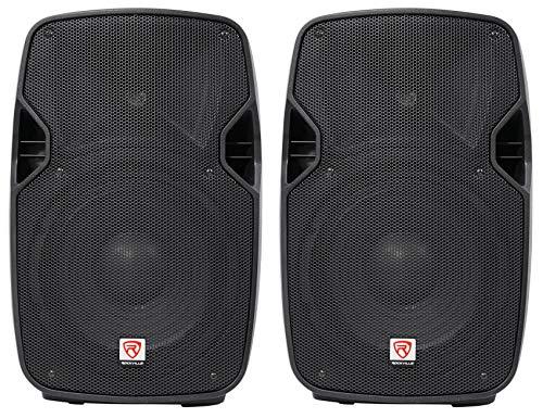 "2 Rockville SPGN104 10"" Passive 800W DJ PA Speakers ABS Lightweight Cabinet 4ohm"