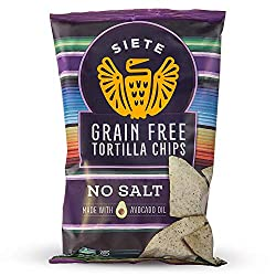 Siete Grain Free Tortilla Chips, No Salt, 5 oz