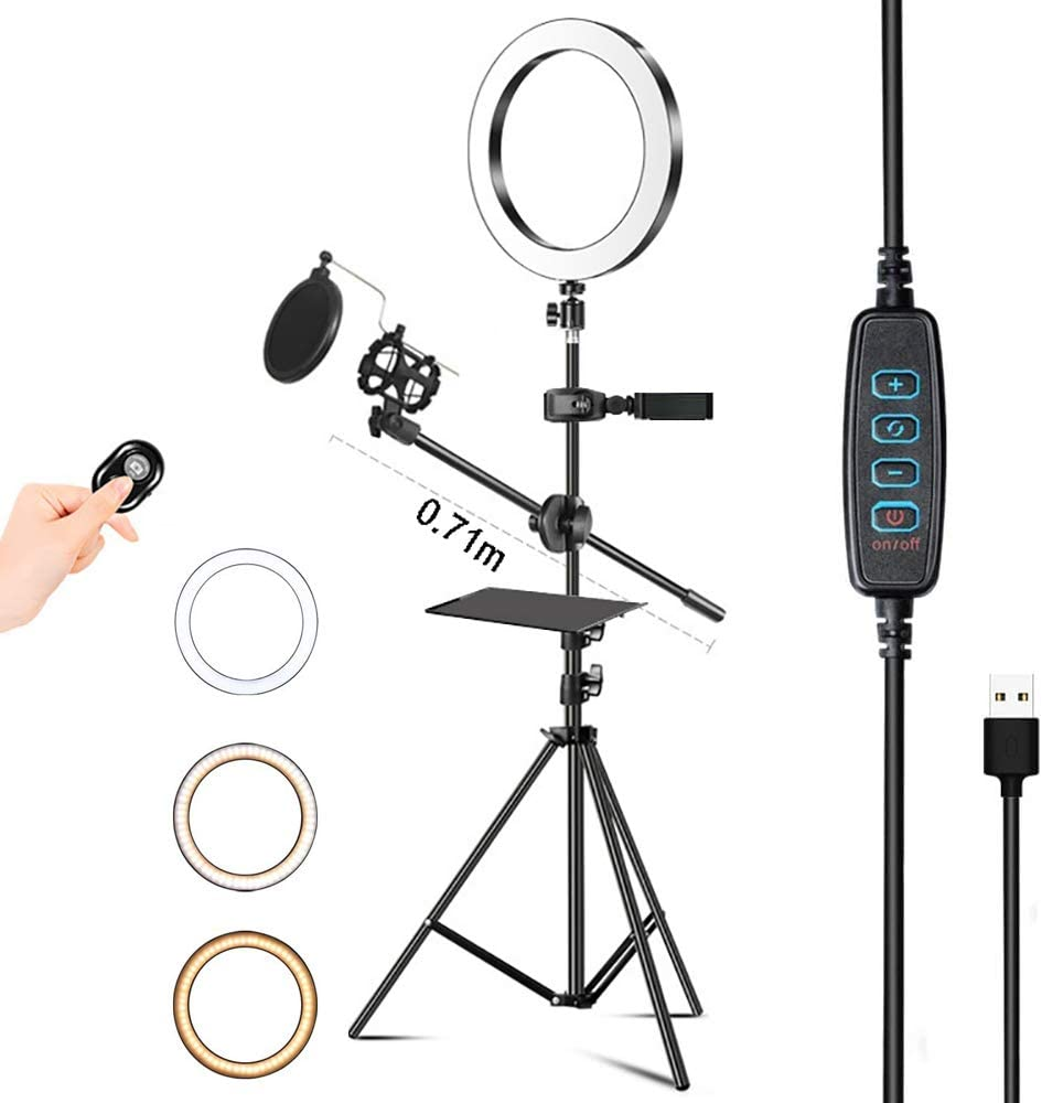 ZJING Selfie Ring Light Directly managed store with Tripod for Broad Bluetooth Live In a popularity and