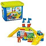 Mega Bloks Garaje de coches de carreras, juguete construcción bebé + 1 año (Mattel FVJ02)