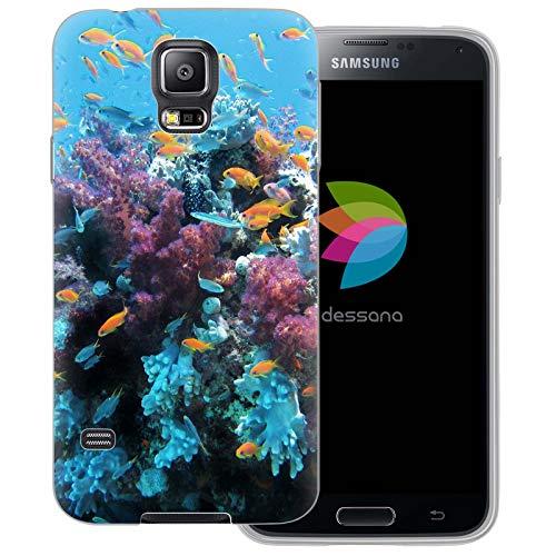 dessana - Cover trasparente per Samsung Galaxy S5/Neo, corallo