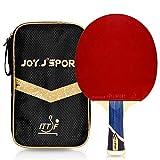 Joy.J Sport Porfessional - Bate de tenis de mesa con funda, raqueta de pingpong, remo TT con excelente goma, perfecto para intermedio y avanzado (intermedio avanzado)