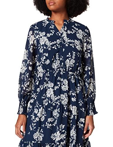 Vero Moda VMMIA LS Calf Dress WVN GA LCS Vestido, Navy Blazer/AOP:MIA, XS para Mujer