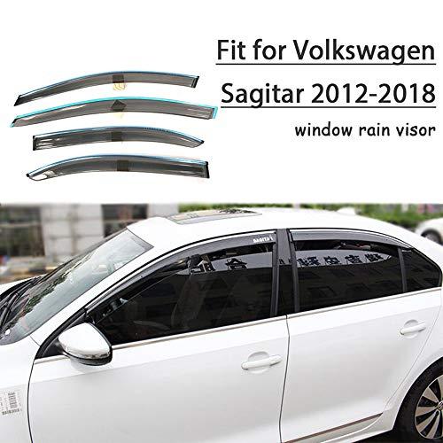 Piaobaige Protector Deflector De Visera De Lluvia Y Sol para Ventana De Estilo De Coche para VW Sagitar 2012 2013 2014 2015 2016 2017 2018