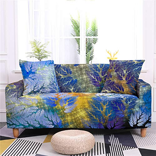 Universal Sofa Cover Spandex Stretch Couch Slipcover rendering Tree Pattern Tight Fitted Armchair Loveseat Settee Cover 1/2/3/4 Seater Sofa Protector,1,seat 90,140cm