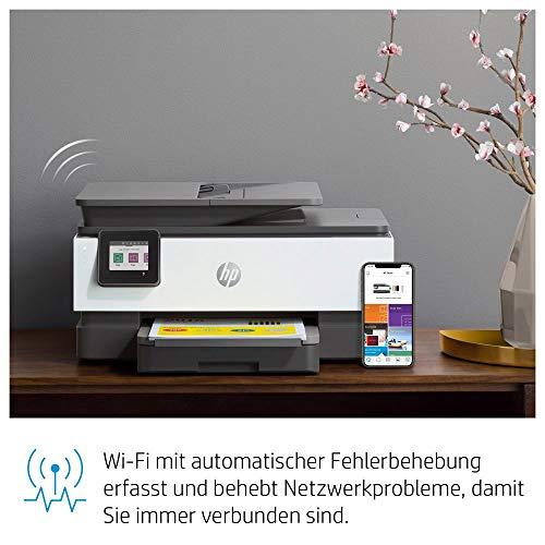 HP OfficeJet Pro 8022 Multifunktionsdrucker (HP Instant Ink, Drucker, Scanner, Kopierer, Fax, WLAN, LAN, Duplex, HP ePrint, Airprint, mit 2 Probemonaten HP Instant Ink Inklusive) basalt