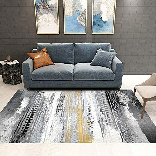 Kunsen Teppich Mädchen Teppichmuster-Designteppich im farbechten Schlafzimmer und im Wohnzimmer Teppich Quadratisch Happy Decor Kids Teppich grau 140X200CM