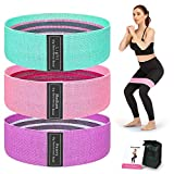 【Cmfortable & Environmentally Friendly Materials】Colel exercise band is made of high quality cotton polyester stretch fabric material, does not reduce its elasticity even after repeated use, will Not Break and comfortable to use. 【3 Resistance Levels...