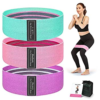 Resistance Bands for Legs and Butt Booty Bands Workout Bands Exercise Bands Loops Hip Thigh Glute Bands Non Slip Fabric Fitness Band for Women Workout Beginner to Professional 3 Pack