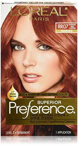 L'Oreal Superior Preference, RR07 Intense Red Copper (Warmer) 1 ea (Pack of 2)