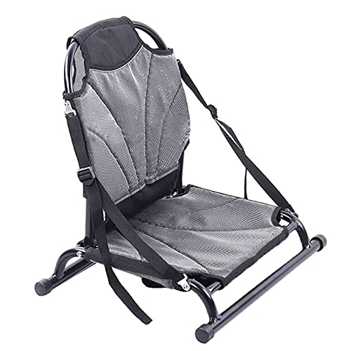 BYOLPMKK Boat Seats Canoe Cushion Aluminium Chair Seat Sit on Top Backrest Seat Inflatable Boat Lightweight Foldable Chair with Back Support