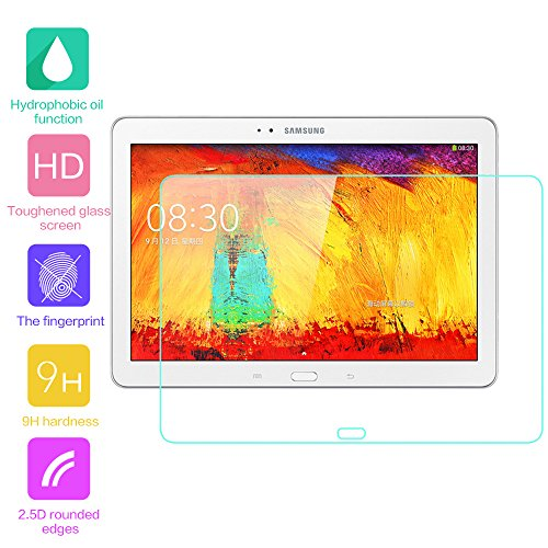 fenrad® 9H Hartglas Panzerglas Glas Folie Schutzfolie Schutzglas Panzerfolie Bildschirmschutzfolie Bildschirmschutz für Samsung Galaxy Note 10.1 2014 Edition P600