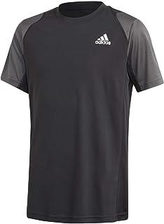adidas B Club T-Shirt, Children, Boys, T-Shirt, GK8181, Black/Grisei/White, 12 Years