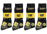 Unbekannt CAT Caterpillar 12 Paar Arbeitssocken, Schwarz - MEGA-Größenauswahl für optimale Größenwahl - 35-40 | 39-42| 41-45 | 43-46 | 46-50 (46-50)