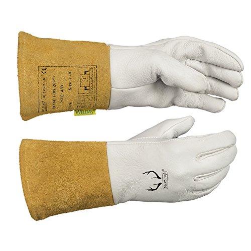 Weldas deersosoft, Softouch®, Sehr weiches Hautgefühl Wig Schweißen Handschuhe, Getreide Weiche Hirschleder. 10–2304