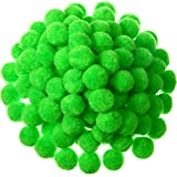 Shappy 500 Pieces 1 Inch Craft Pom Pom Balls for DIY Creative Crafts Decorations Kids Craft Project Home Party Holiday Decorations (Fruit Green)