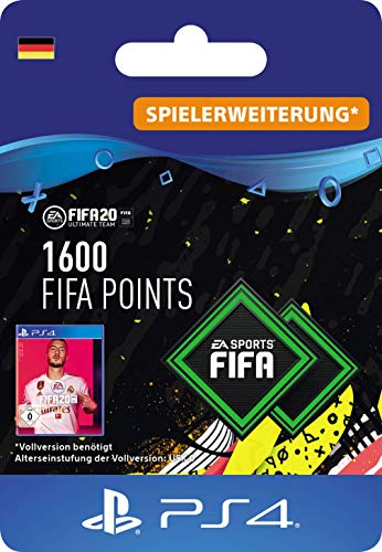 FIFA 20 Ultimate Team - 1600 FIFA Points DLC - PS4 Download Code - deutsches Konto