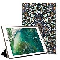 PRINDIY iPad 10.2 2019/iPad カバー, 耐久性 キズ防止 衝撃防止 三つ折りブラケット PC + PUレザー 3つ折り スタンド機能付き ンドソフトシェルケース iPad 10.2 2019/iPad Case-G 132