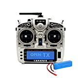 FrSky Taranis X9D Plus 2019 Access 2.4G 24CH Radio Transmitter with 2S Lipo Battery Pack - Silver