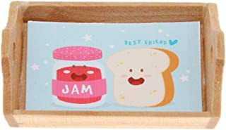 LuDa 1:12 Dollhouse Wooden Tray Simulation Furniture Supplies Scenery Ornaments - Jam