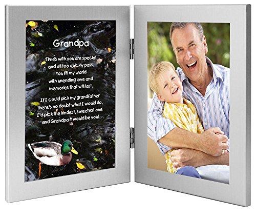 Grandpa Gift From Grandchild, Frame from Grandson or Granddaughter, Add Photo