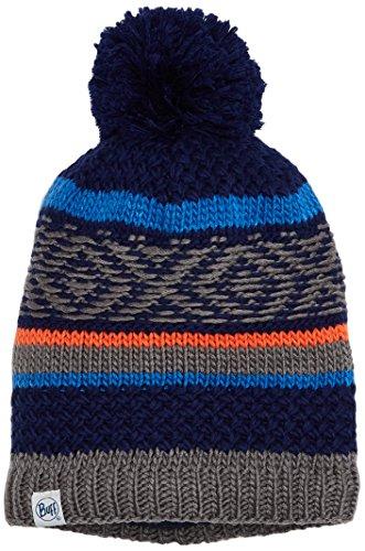 Buff Kinder Knitted & Polar Hat Mütze, Tipsy Blue Ink, One Size